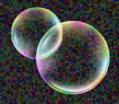 translucent: soap bubbles transparent translucent vector isolated. Stock Photo