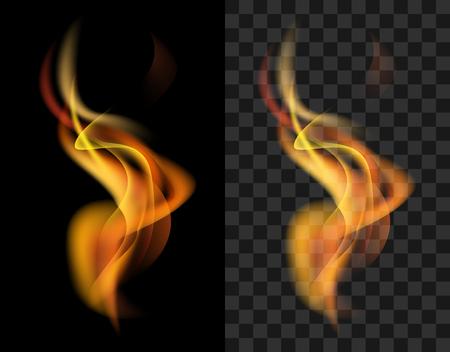 aislado: disparar transparente antorcha de llama translúcida