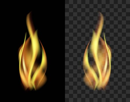 translucent: Translucent fire flame smoke isolated on a black background transparent.