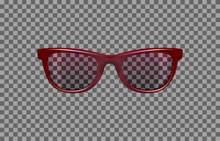 translucent: translucent glasses with red tint for photomontage