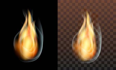 translucent: flame fire smoke translucent transparency. a transparent background