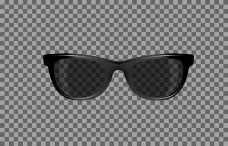 translucent: translucent stylish glasses with a black tint Stock Photo