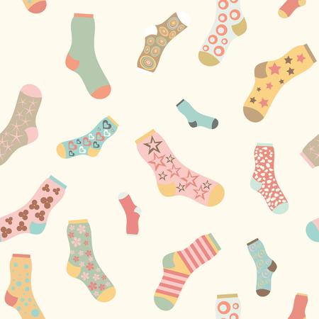 calcetines: Textura incons�til del fondo de los calcetines del vector