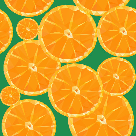 sliced fruit: low poly polygon sliced fruit orange seamless texture pattern