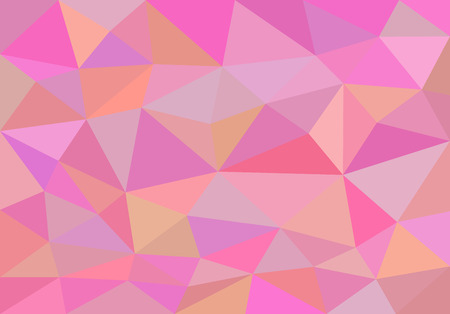 gently: low polygon background polygon 50 fifty shades gently pink. Stock Photo