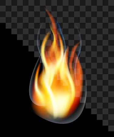 Drop Feuer Flamme Fackel Rauch transparent zu brennen.