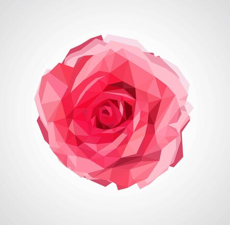 valentine: polygonal rose that bloomed