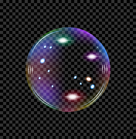 soap bubble with reflections of different shades transparent vector
