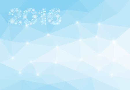 hue: polygon Christmas Background for a card blank blue hue 2016 Stock Photo