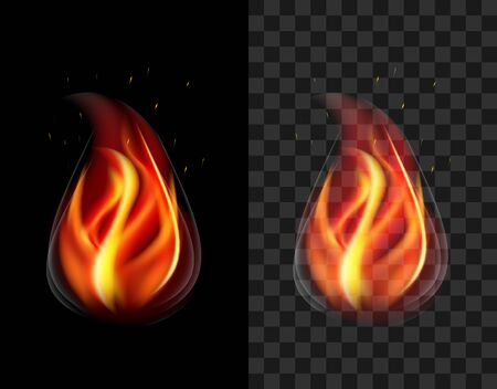 translucent: stock Translucent fire torch with sparks and smoke transparent Stock Photo