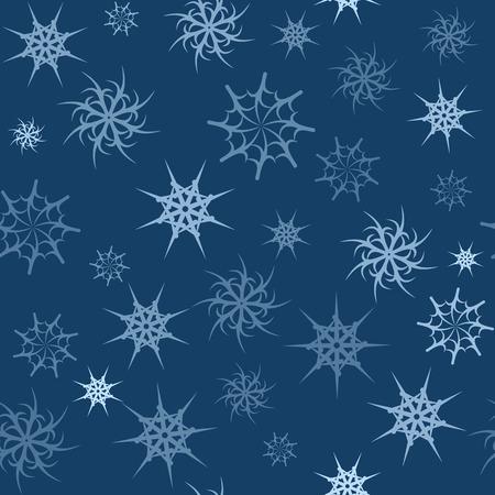 gossamer: Seamless background with transparent gossamer blue stars Stock Photo