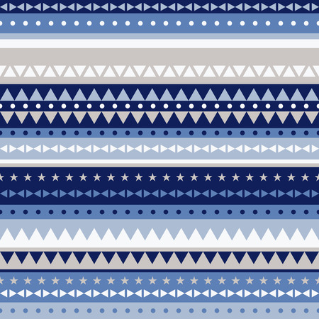 style geometric: border pattern triangles and stars - navy blue Stock Photo
