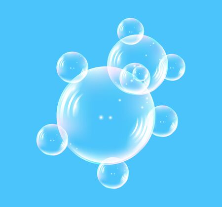 translucent: Bear consisting of translucent bubble