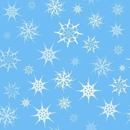 gossamer: Seamless background with transparent gossamer light-blue color stars