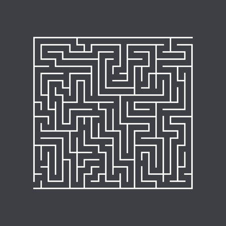 conundrum: large square maze confusion conundrum on a dark background
