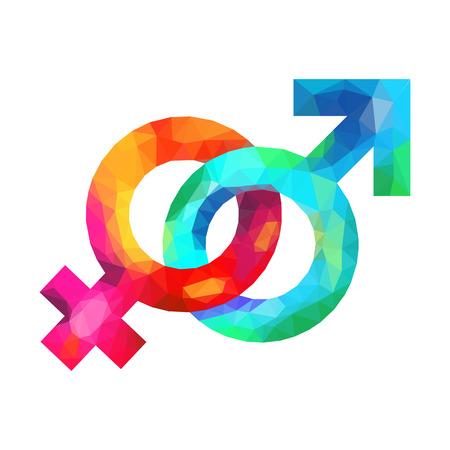 sex symbol: male and female symbol Mirror of Venus and Mars Shield