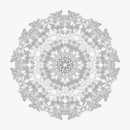 looped: circular pattern looped flowers 1 Stock Photo