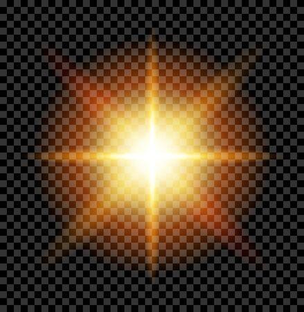 large flash glare pointed star Stock Photo