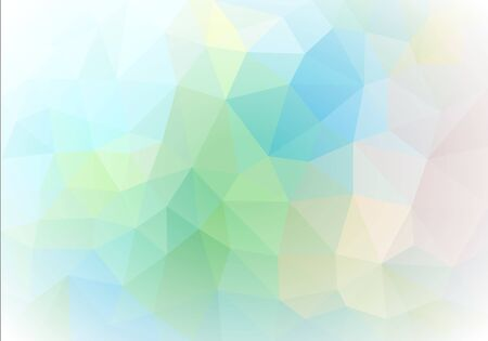 green tone: abstract vector polygon with white vignetting green tone