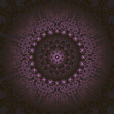 Teppich gezeichnet  Schwierig Kreismuster Von Locken Und Spiralen Vektor Hintergrund ...