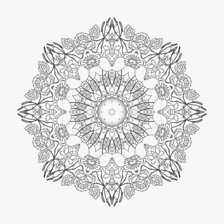 looped: circular pattern looped flowers 4
