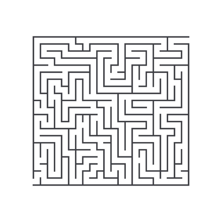 confusion: large square maze confusion conundrum on a white background