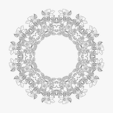 looped: circular pattern looped flowers 3