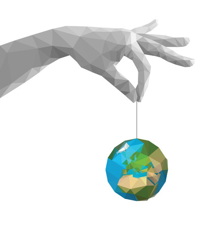 pinch: polygonal hand pinch fingers together monochrome earth Africa white
