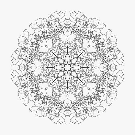 looped: circular pattern looped flowers 2