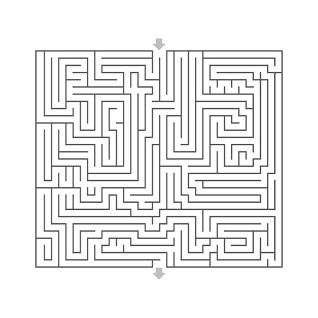 input output: maze hard design puzzle with specify input and output White Stock Photo