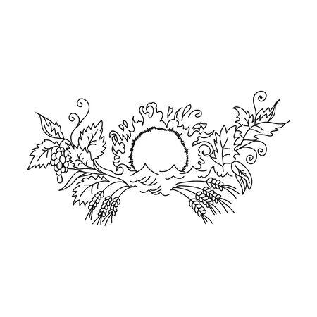 prosperity: symbol of prosperity and wealth sun rises over grape
