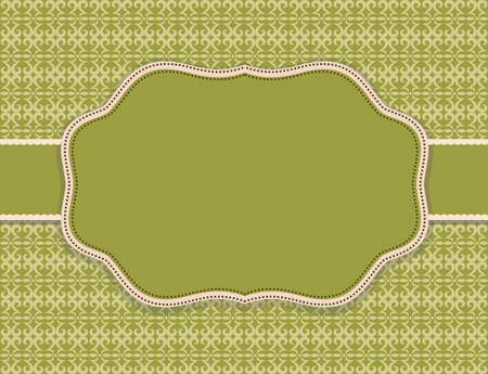 the substrate: substrate pattern background olive card Illustration