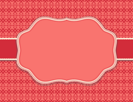 the substrate: substrate pattern background red card Illustration