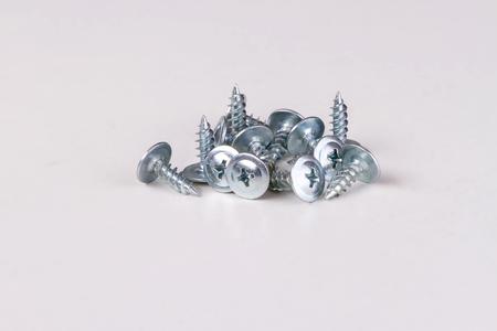 galvanised: pile of screws metal products