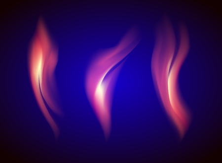 tripple: tripple Gas fire on a blue background transparent vector Illustration