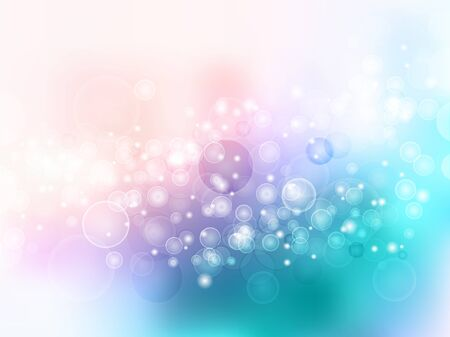 polkadot: vector background blur with spots and blisters highlights blue