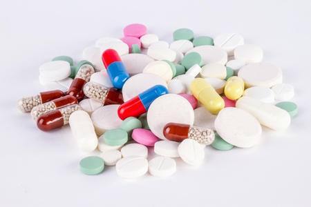 large pile of tablets and pills and capsule