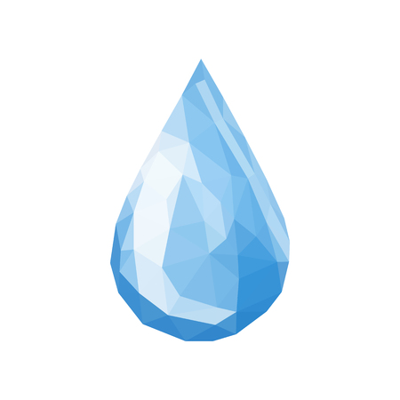 drop of water triangles polygonal simple vector on white Illustration