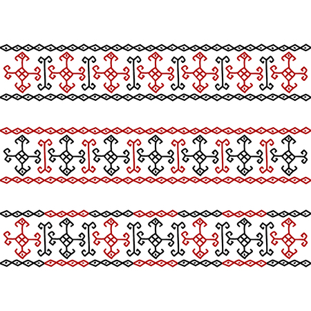 cross-stitch as embroidery vector historical Ornament Çizim