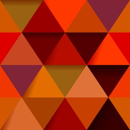 Colored triangles seamless pattern Çizim