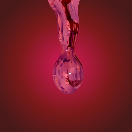 drop of water vector on red gradient background