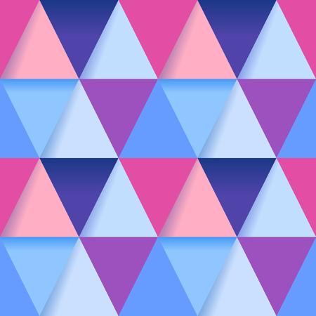 Colorful triangles seamless pattern