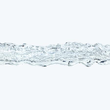 3D illustration of a blue water flow Stok Fotoğraf