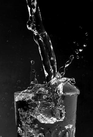 water splash glass black Stok Fotoğraf