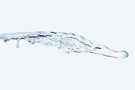 water Splash jet isolate On light blue Background horizontal 2 Stok Fotoğraf