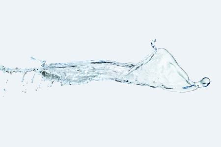 water Splash spray isolate On light blue Background vertical