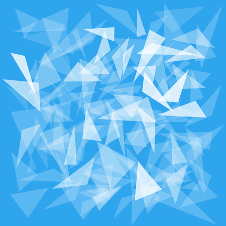 blue background with translucent triangles Ilustracja