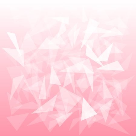 pink background with translucent triangles