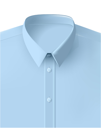 Vector Shirt Folded Isolated light blue