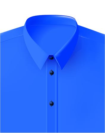 Vector Shirt Folded Isolated blue Standard-Bild - 109635841